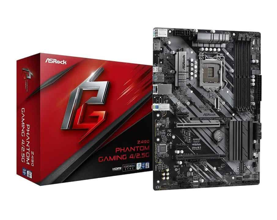 ASRock Z490 Phantom Gaming 4/2.5G – Best Cheap Motherboard for Intel Core i7-10700k