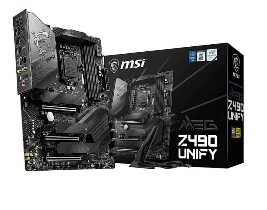 MSI MEG Z490 Unify – Best High-end motherboard for Intel Core i7-10700k