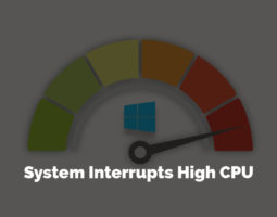 System Interrupts High CPU