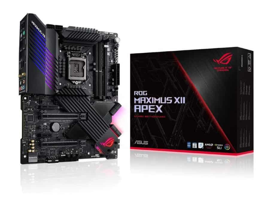 ASUS ROG Maximus XII Apex (WiFi 6) Z490 - Best high-end MOBO for Intel Core i5-10600K (10th Generation)