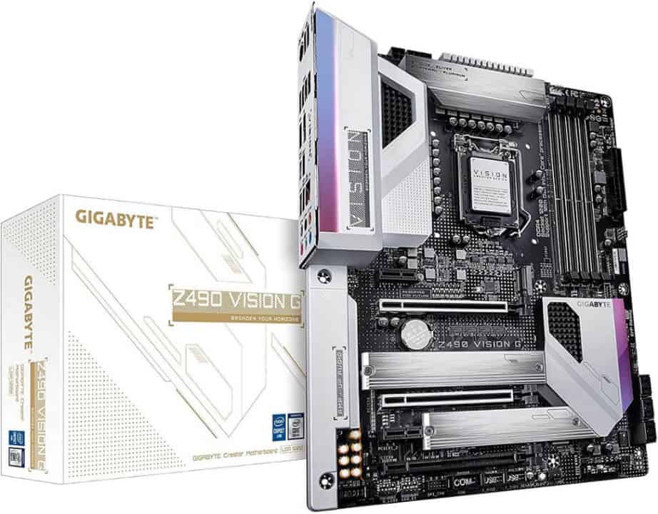 GIGABYTE Z490 Vision G – Best budget motherboard for Intel Core i5-10600K (i5 10th Gen)