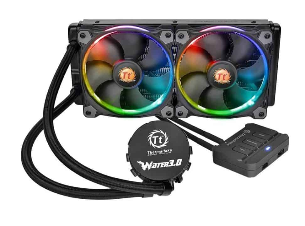 Thermaltake WATER 3.0 Dual Riing RGB - Best affordable AIO CPU water cooler