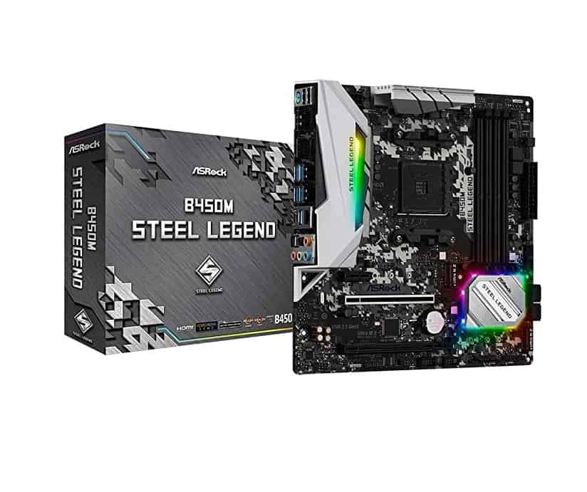 ASRock B450 Steel Legend – Best B450 Motherboards for AMD Ryzen 9 3900X