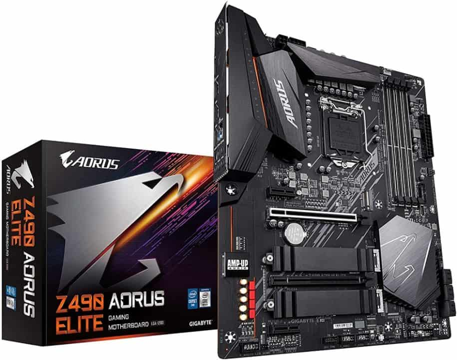 Gigabyte Z490 AORUS Elite - Best Cheap Z490 MOBO for Intel Core i5 10th gen