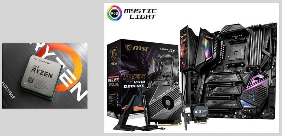 AMD Ryzen 9 5950X + MSI MEG X570 GODLIKE CPU Motherboard Bundle