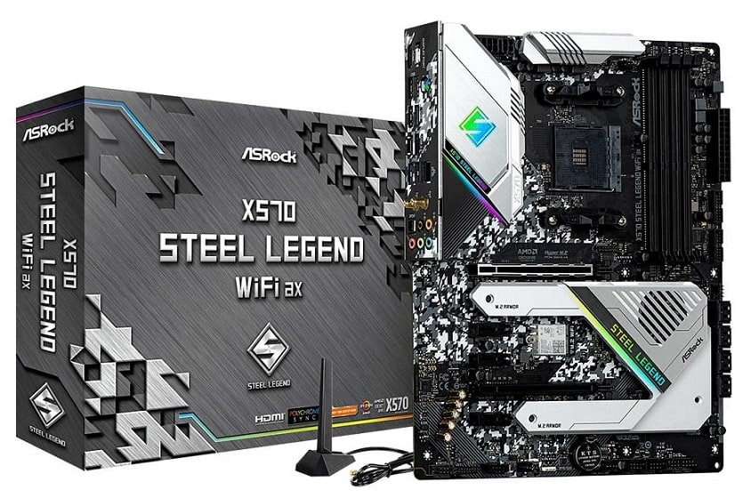 ASRock X570 Steel Legend WiFi AX AM4 AMD X570 SATA 6GB/S ATX AMD Motherboard