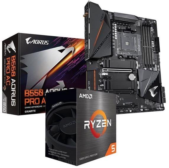 AMD Ryzen 5 5600X + GIGABYTE X570 AORUS Elite Wi-Fi