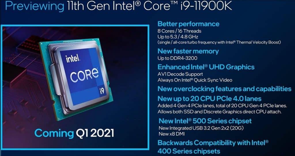 Intel Rocket Lake 11th Gen Desktop CPUs Launch Date Confirmed