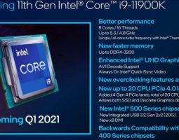 Intel Rocket Lake 11th Gen Desktop CPUs Launch Date Confirmed